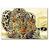 YABINGA Wandkunst Bild Druck Goldener Gepard Poster Und
