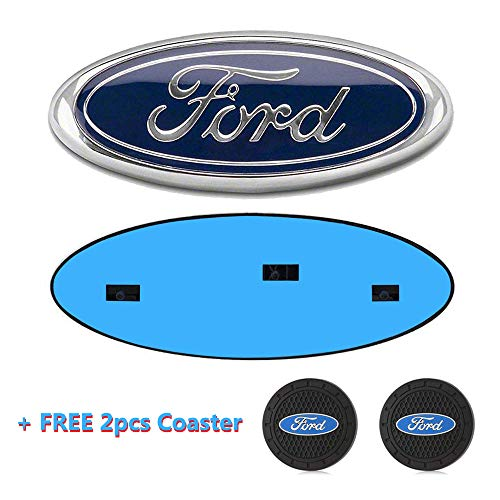 Ford F150 emblema para la rejilla delantera o trasera, ovalado de 23 x 9 cm, placa de identificación para Ford azul para 04-14 F250 F350, 11-14 Edge, 11-16 Explorer, 06-11 Ranger, 07-11 Expedition