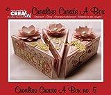 Crealies Set da 3 Fustelle Create a Box Fetta di Torta compatibili con Big Shot