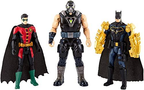 Mattel DC FVM57 Batman Missions Figuren 3er Pack mit Batman, Robin und Bane