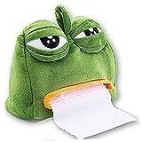 Axgo Sad Frog Feels Bad Man Box Cover Paper Dispenser Tissues Case Home Decor Funny Gift, Green
