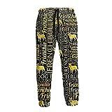 LAOLUCKY Pantalones de chándal casuales para hombre, pantalones deportivos para entrenamiento