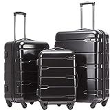 COOLIFE Koffer Set, PC + ABS Material mit TSA-Schloss (viele Farben zu Auswahl)