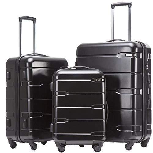 COOLIFE Suitcase Black Black Koffer-Set