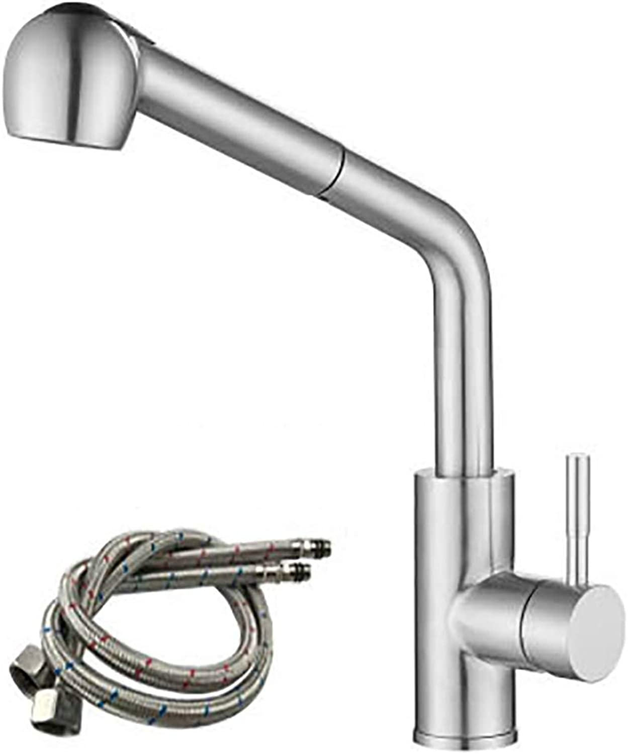 Kitchen Pull-Down Faucet, Sink Pull Out Mixer Tap Single-Handle Extendable redation Rust-Resistant Modern-B