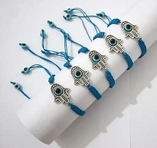 lot 5 LARGE Hamsa Evil Eye Sky STRING Kabbalah Bracelets Lucky Charm Jewelry by Body-Soul-n-Spirit Bracelet