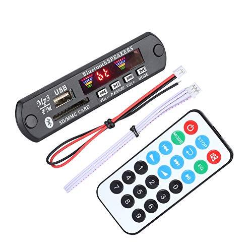 Bewinner Bluetooth MP3 WMA Decoder Board SDM01BT + U-DX 4 Farben Bildschirm Bluetooth 5.0 FM APE FLAC Decoder Board Modul Unterstützung AUX, FM, USB, SD 12 V Wirelss Audio Modul mit Fernbedienung