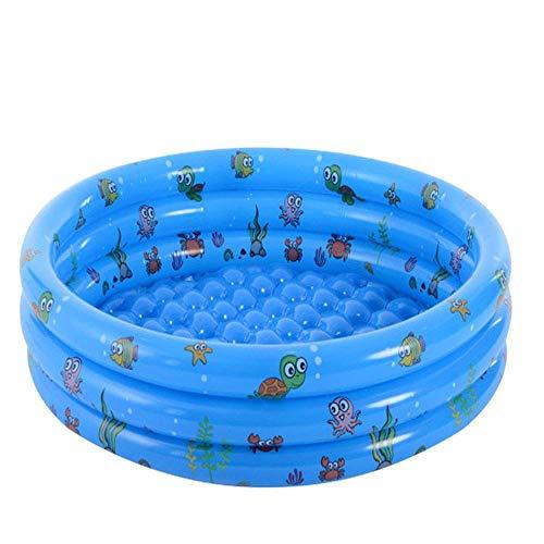Piscina inflable redonda para bebés, inflable portátil para niños/niños, piscina, playa, océano, 3 anillos de verano, piscina para Kidsmdash; 150 veces; 40 cm verde1 (color: azul)