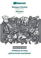 BABADADA black-and-white, Malagasy (Tesaka) - Afrikaans, rakibolana an-tsary - geillustreerde woordeboek: Malagasy (Tesaka) - Afrikaans, visual dictionary
