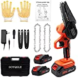Mini Chainsaw Cordless, Battery Powered Chainsaw 4 Inch 36V 2.0Ah Electric Chainsaw for Farming Tree Limbs,Garden Pruning,and Firewood.