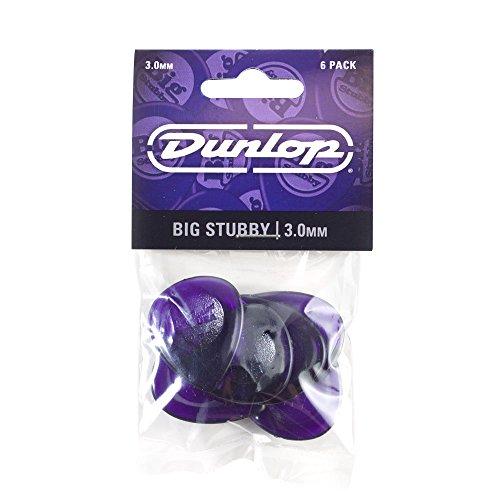 Dunlop Big Stubby Gitarrenplektren 6 Stück 3.0mm White Black Red Blue