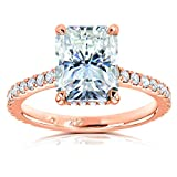 Kobelli Radiant-cut Moissanite Engagement Ring 3 1/10 CTW 14k Rose Gold, 6