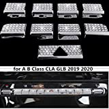 NIUHURU Décoration intérieure de Voiture Accessoires Strass Décalcomanies Bouton de climatisation Autocollant pour Mercedes Benz Classe A B CLA GLB 2019, 2020
