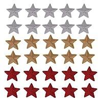 洋服 リメイク 用 大きな スパンコール 星 アイロン接着 アップリケ 3色30個セット ワッペン スター