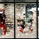 VOSAREA 6 Hojas Pegatinas de Ventanas de Etiquetas en Las Ventanas Navidad de PVC no Hay Pegamento Decoraciones Adhesivos de Vidrio para los Muebles del Dormitorio Sala
