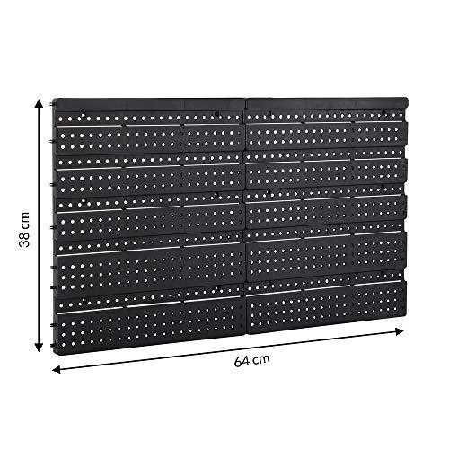 Deuba® Wandregal + Stapelboxen ✔ 32 tlg Box ✔ extra starke Wandplatten ✔ Regal erweiterbar ✔ Werkstattregal Lagerregal Werkstattwandregal Steckregal - 8
