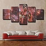 37Tdfc Modern Bild Wandbilder Kunstdrucke 5 Teilig Poster
