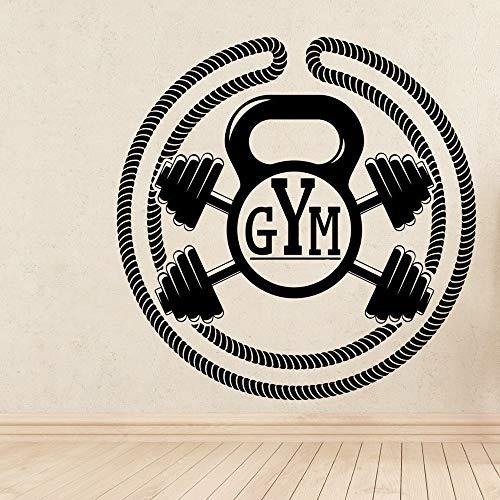 Ajcwhml Personalisierte Gym Kunst Aufkleber wasserdichte Wandaufkleber Kinderzimmer Dekoration Wandkunst Aufkleber