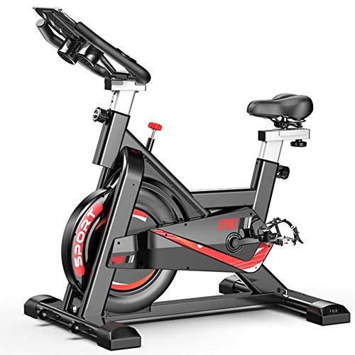 Olz Indoor Cycling Bike Spinning-Fahrrad-Ultra-Quiet Fitness-Bike und Bauchtrainer, Speedbike mit Geräuscharmer Riemenantriebssystem, Hauptgymnastik Fahrrad Sport Fitnessgeräte Cardio Trainer