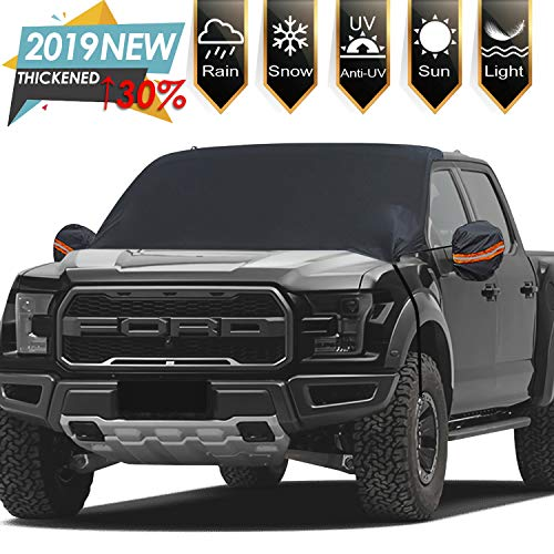 "Windshield Snow Ice Covers Extra Larger Size 97""x 63"" Shade Waterproof Sun Protection All Cars, Trucks, SUVs, MPVs"