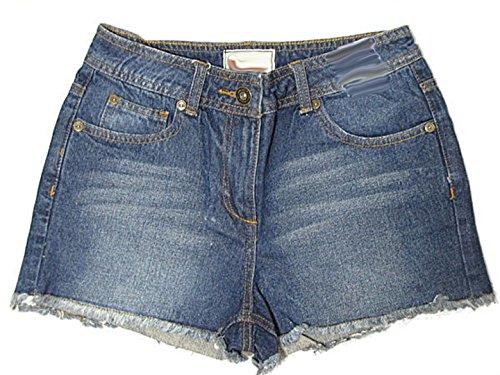 Liefde Lola Womens Denim Shorts Dames Hoge taille Jeans Shorts Kwaliteit Hot Broek Donkerblauw 8-16