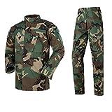 YZRDY For Hombre de Las Fuerzas Especiales Militares Uniforme del Combate de Desgaste Camisa de Trabajo 9color Camuflaje del ejército táctico más el tamaño de Las Bragas de la Ropa Conjunto Combat