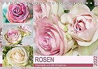 Rosen. Charmante und edle Koeniginnen (Tischkalender 2022 DIN A5 quer): Elegante und zauberhafte Rosen fuer Romantiker (Monatskalender, 14 Seiten )