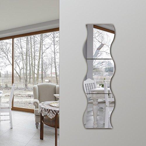 Mirror ZI Ling Shop- Espejo de Cuerpo Entero Pared Colgante Curva de combinación sin Marco S - Tipo Ropa Espejo Espejo vestidor Espejo de Pared Espejo vestidor