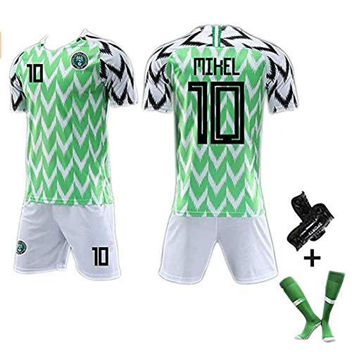 CUYE Herren Fußball Trikot Shirt # 7# 10# 18 Nigeria World Cup Jersey 2018, Bequeme Sportbekleidung Fans #10-M