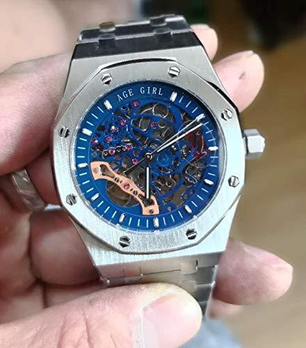 GFDSA Automatische horloges Luxe merk Automatisch mechanisch herenhorloge Saffier Transparant glazen skelet Rose Goud Zwart Zilver Tourbillon Horloges