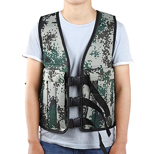 Yosoo Unisex 20KG/ 44LBS Adjustable Camouflage Weighted Vest Training Workout Fitness Exercise Jacket (NOT include weights)