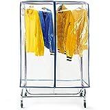 Tatkraft Screen Schutzhülle Kleiderständer | Abdeckhaube Kleiderstange Durchsichtig | Transparent | 2 Reißverschlüsse, Extrabreit | 150x60x96CM