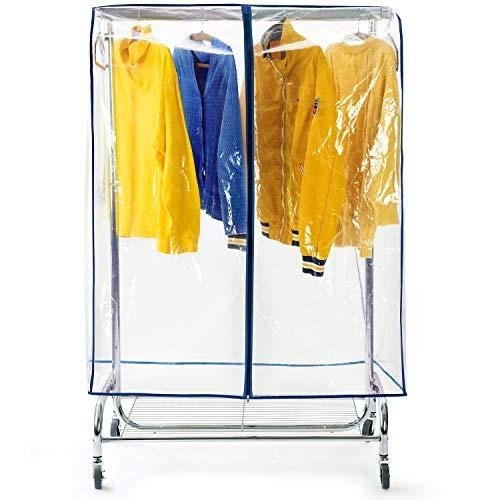 Tatkraft Screen, Housse de Protection pour Portant à Vêtements 150x96x60 cm, Plastique Waterproof Transparent, Ouverture et Fermeture Faciles, Portant Non Inclus