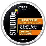 L'Oreal Paris Hair Care Studio Line Beard and Hair Cream, 1.7 Ounce