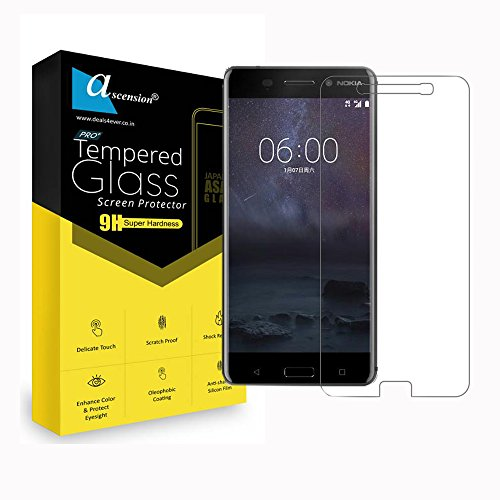 Ascension ® Curve Tempered for Nokia 5 Gorilla Glass Screen Protector High 9H Hard 2.5D Ultra Clear Transparent