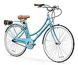 FIRTH SPORTS Nadine SE Women's Aluminum Step-Thru City Bike (Blue, 3 Speed/Medium)