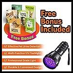 MIU COLOR Black Light UV Flashlight, 21 LEDs 395nm UV Blacklight, Dogs Urine Detector, Handheld UV Flashlight for Dry Stains and Scorpion Hunting 14