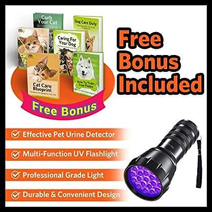 MIU COLOR Black Light UV Flashlight, 21 LEDs 395nm UV Blacklight, Dogs Urine Detector, Handheld UV Flashlight for Dry Stains and Scorpion Hunting 7