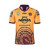 YHANS Rugby-Spieltrikots für Herren,Brisbane Broncos Maillot de Rugby 2019 NRL, Jersey séchage Rugby Respirant Rapide Hommes Manches Courtes Classique Rugby T-Shirt,C,XXL
