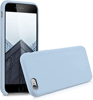 kwmobile TPU Silicone Case for Apple iPhone 6 / 6S - Soft Flexible Rubber Protective Cover - Light Blue Matte