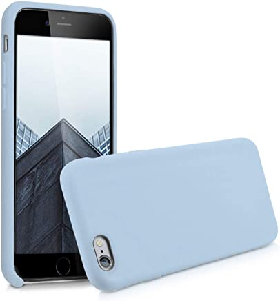 kwmobile [TPU Silicone] Case for Apple iPhone 6 / 6S - Soft Flexible [Rubber] Protective Cover - Light Blue Matte
