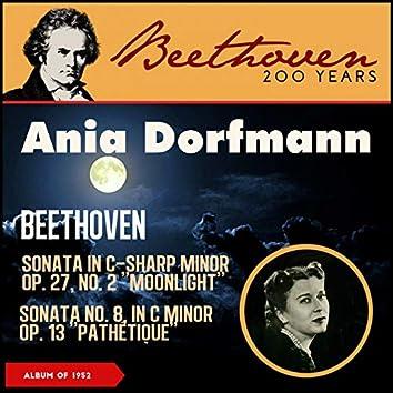 "Beethoven: Piano Sonata No. 14 In C-Sharp Minor, Op. 27, No. 2 ""Moonlight"" - Sonata No. 8 In C Minor, Op. 13 ""Pathétique"" (Album of 1952)"