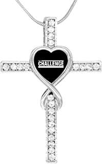 MTV The Challenge Cross Love Heart Infinity God Cross Pendant Necklace Birthday Gifts for Her Wife Women