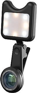 Ronyme Luz de preenchimento clipada com lente grande angular 0,36x Lente 5x para selfie de telefone com câmera de vídeo co...