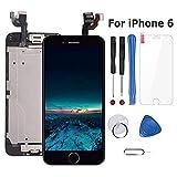 Ecran iPhone 6 LCD Vitre Tactile Complet sur Châssis pour iPhone 6 Noir avec Outils Bouton Home Écouteur Interne Caméra De Face Tout Assemblé