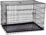 Portable 42' Folding Pet Crate Kennel Wire Cage for Dogs - Cats or Rabbits