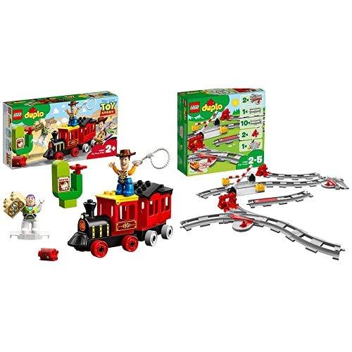 Lego Duplo Super Heroes Treno Toy Story Disney, Gioco Per Bambini, Multicolore, 354 X 191 X 70 Mm, 10894 & Duplo, Binari Ferroviari, 10882