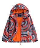 M2C Boys Hooded Full-Zip Windproof Fleece Lined Active Jacket 4T Orange
