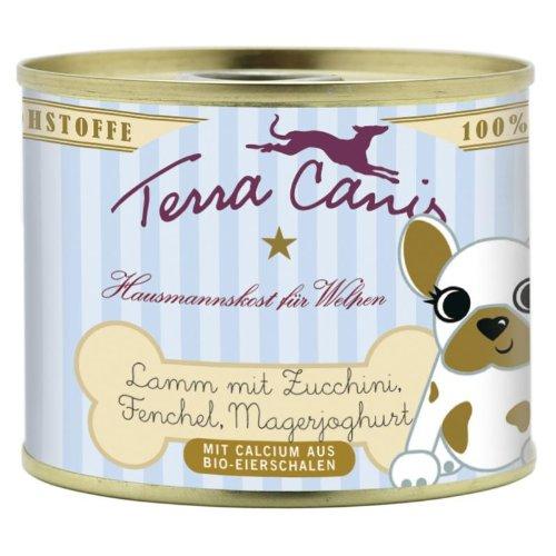 Terra Canis | Lamm mit Zucchini, Fenchel und Magerjoghurt für Welpen | 12 x 200 g
