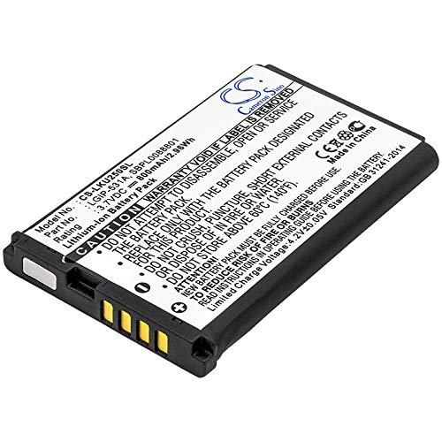 TECHTEK akku Ersetzt LGIP-531A, für SBPL0088801 Kompatibel mit [LG] 236C, 237C, 440G, 500G, A100 Amigo, A170, AN160, B450, B460, B470, B471, C195, Envoy 2, Envoy 3, G320GB, GB100, GB101, GB106, GB110
